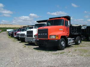 Picture of LaPine's Mack Dump Truck Stock.