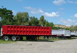 Picture of Aluminum Dump Trailer Stock.